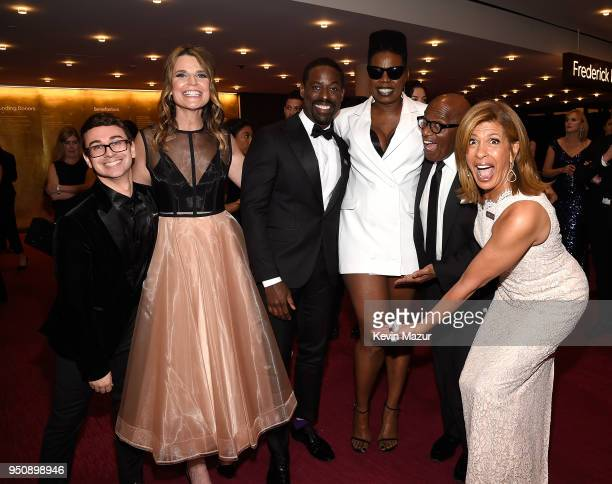 Fashion designer Christian Siriano Savannah Guthrie Sterling K Brown Leslie Jones Al Roker and Hoda Kotb attend the 2018 Time 100 Gala at Jazz at...