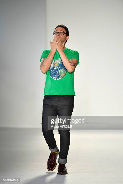 Fashion designer Christian Siriano walks the runway at the Christian Siriano Ready to Wear Spring/Summer 2018 fashion show during New York Fashion...