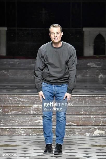Fashion designer Christian Wijnants walks the runway during the Christian Wijnants Ready to Wear fashion show as part of the Paris Fashion Week...