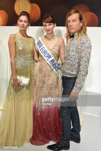 Fashion designer Christophe Guillarme and hs models attend the Christophe Guillarme show as part of the Paris Fashion Week Womenswear Spring/Summer...