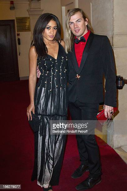 Fashion designer Christophe Guillarme and Josephine Jobert, the niece of Marlene Jobert, attend the Gala de l'Espoir charity event against cancer at...