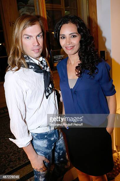 Fashion designer Christophe Guillarme and journalist Aida Touihri attend the 'Charriol' Ephemeral Boutique opening hosted by Nathalie Garcon at...