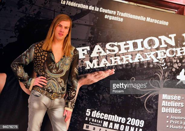 Fashion Designer Christophe Guillarme attends his fashion show during the Marrakech Film Festival at the Hotel La Mamounia on December 5, 2009 in...