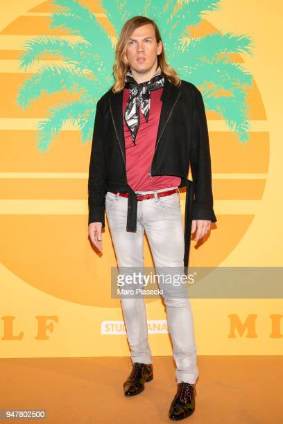 Fashion designer Christophe Guillarme attends the 'MILF' Premiere at Cinema Gaumont Capucine on April 17, 2018 in Paris, France.