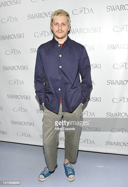 Fashion designer Christopher Peters attends the 2012 CFDA Awards Nominee Honoree announcement at Diane Von Furstenberg on March 14 2012 in New York...
