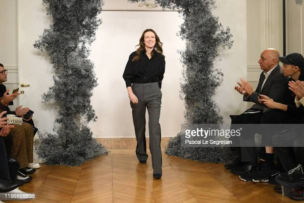 Fashion designer Clare Waight Keller walks the runway during the Givenchy Menswear Fall/Winter 2020-2021 show as part of Paris Fashion Week on...
