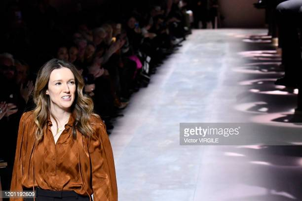 Fashion designer Clare Waight Keller walks the runway during the Givenchy Haute Couture Spring/Summer 2020 fashion show as part of Paris Fashion Week...