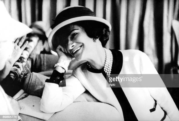 fashion designer Coco Chanel c early 50's
