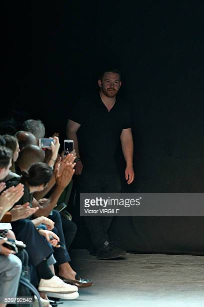 Fashion designer Craig Green walks the runway at the Craig Green show during The London Collections Men SS17 on June 10, 2016 in London, England.