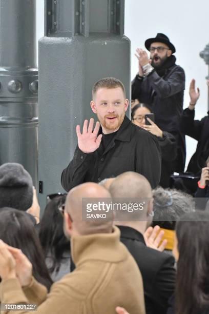 Fashion designer Craig Green walks the runway during the Craig Green Menswear Fall/Winter 2020-2021 fashion show as part of Paris Fashion Week on...