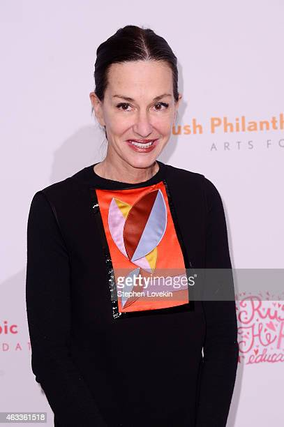 Fashion designer Cynthia Rowley attends Russell Simmons' Rush Philanthropic Arts Foundation's annual Rush HeARTS Education Valentine's Luncheon at...