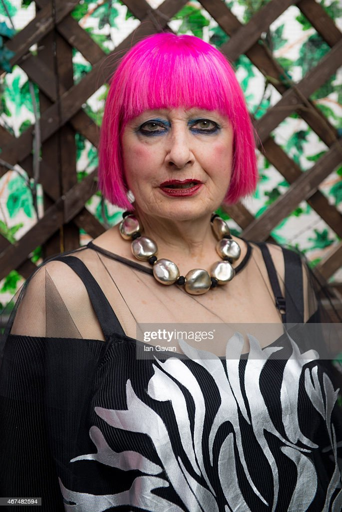 Zandra Rhodes, Hello magazine UK, February 24, 2015 : News Photo