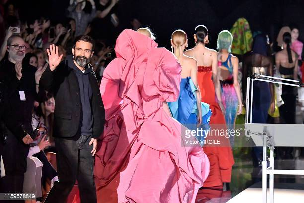 Fashion designer Daniel Roseberry walks the runway during the Schiaparelli Haute Couture Fall/Winter 2019 2020 show as part of Paris Fashion Week on...