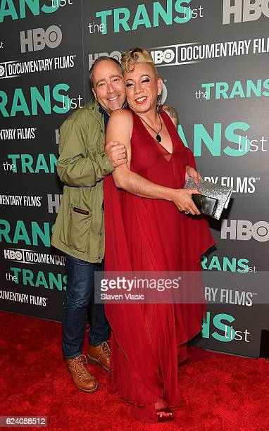Fashion designer Daniel Silver and subject of the documentary Bamby Salcedo attend HBO Documentary Film 'THE TRANS LIST' NY Premiere at Paley Center...