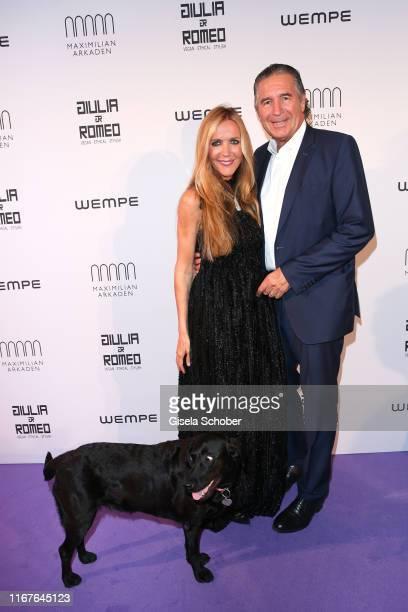 Fashion designer Daniela Brunner and her husband Urs Brunner and dog Greta during the vegan fashion show store opening and dinner of Giulia Romeo at...