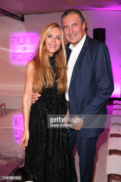 Fashion designer Daniela Brunner and her husband Urs Brunner during the vegan fashion show store opening and dinner of Giulia Romeo at Maximilian...