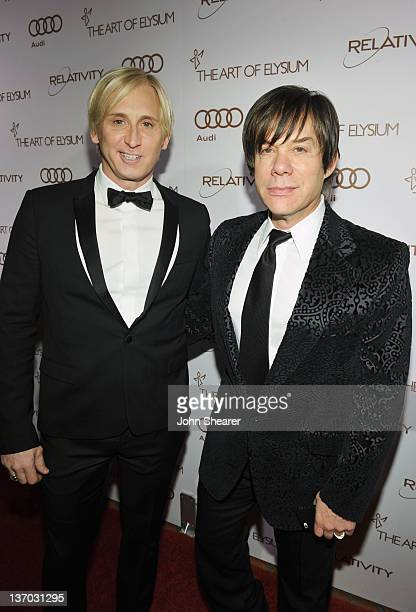 Fashion designer David Meister and producer Alan Siegel arrive at Audi presents The Art of Elysium's 5th annual HEAVEN at Union Station on January...