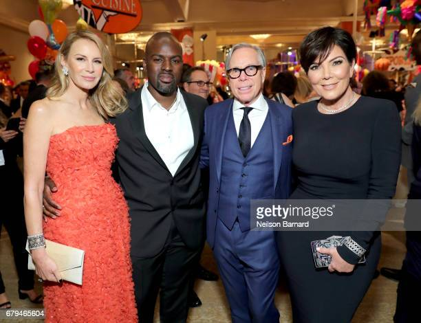 Fashion Designer Dee Ocleppo Corey Gamble TV Personality Kris Jenner and Fashion Designer Tommy Hilfiger attend the 24th Annual Race To Erase MS Gala...