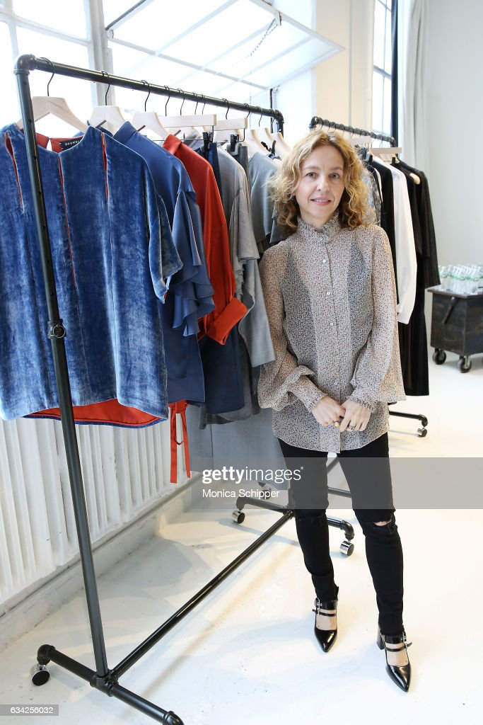 Fashion designer Denitza Skorcheva poses for a photo at the Roumel 6 Presentation during February 2017 New York Fashion Week at Drift Studios on February 8, 2017 in New York City.