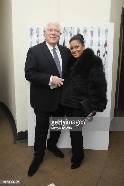 Fashion designer Dennis Basso and television personality LisaNicole Cloud attend the Dennis Basso fashion show at St Bartholomew's Church on February...