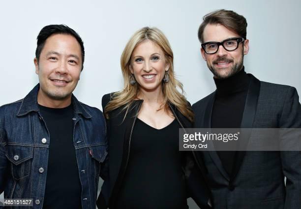 Fashion designer Derek Lam jewelry designer Jamie Wolf and stylist Brad Goreski attend the Derek Lam Jamie Wolf Black And White Jewelry Launch on...