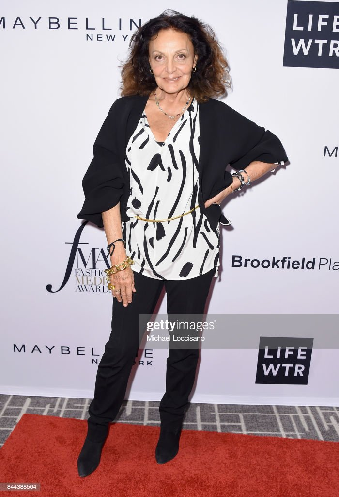 Fashion designer Diane von Fürstenberg attends the Daily Front Row's Fashion Media Awards at Four Seasons Hotel New York Downtown on September 8, 2017 in New York City.