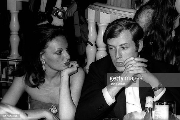 Fashion Designer Diane von Furstenberg and businessman Robert Trump attend Sol Hurok Gala on May 21 1973 at the Metropolitan Opera House in New York...