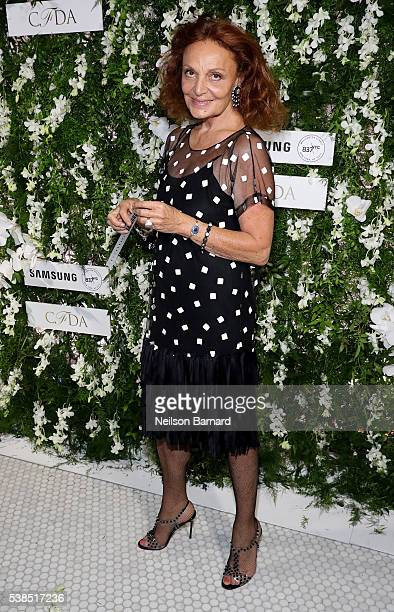 Fashion designer Diane von Furstenberg arrives at the official 2016 CFDA Fashion Awards after party hosted by Samsung 837 in NYC on June 6 2016 in...
