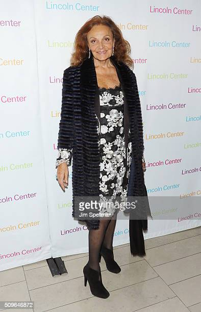 Fashion designer Diane von Furstenberg attends the 2016 American Songbook Gala at Alice Tully Hall Lincoln Center on February 11 2016 in New York City