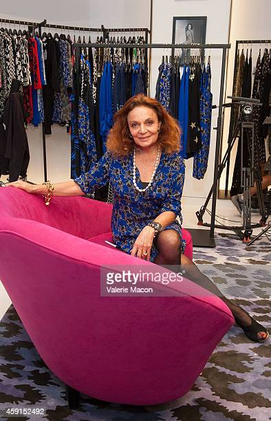 Fashion Designer Diane von Furstenberg attends the book signing of her book 'The Woman I Wanted To Be'' at the opening of the new DVF Santa Monica...