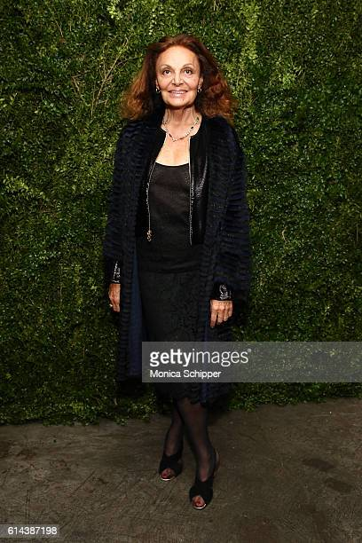Fashion designer Diane von Furstenberg attends the 'Franca Chaos And Creation' New York Screening at Metrograph on October 13 2016 in New York City