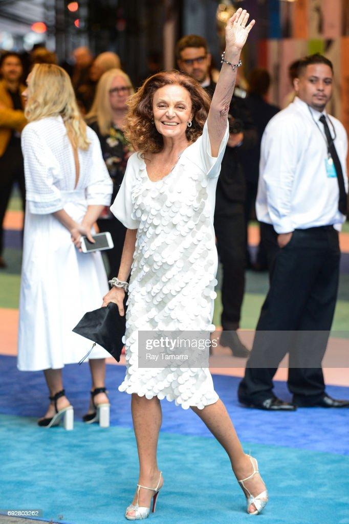 Fashion designer Diane von Furstenberg enters the CFDA Fashion Awards at Hammerstein Ballroom on June 5, 2017 in New York City.