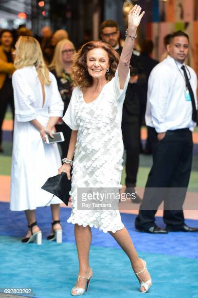 Fashion designer Diane von Furstenberg enters the CFDA Fashion Awards at Hammerstein Ballroom on June 5 2017 in New York City
