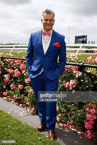 Fashion designer Dom Bagnato poses at the Emirates Fashions on the Field Marquee on Emirates Stakes Day at Flemington Racecourse on November 7, 2015...