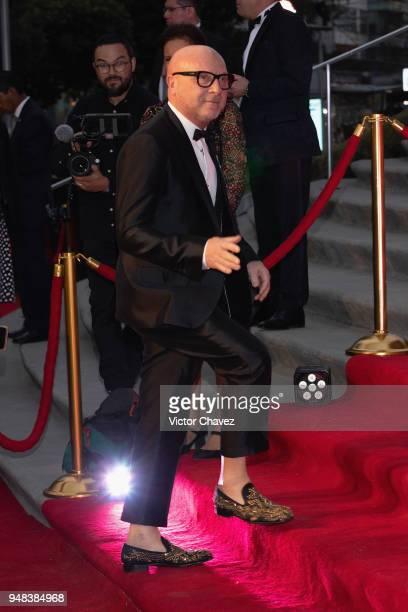 Fashion designer Domenico Dolce attends the Dolce Gabbana Alta Moda and Alta Sartoria collections fashion show at Soumaya Museum on April 18 2018 in...