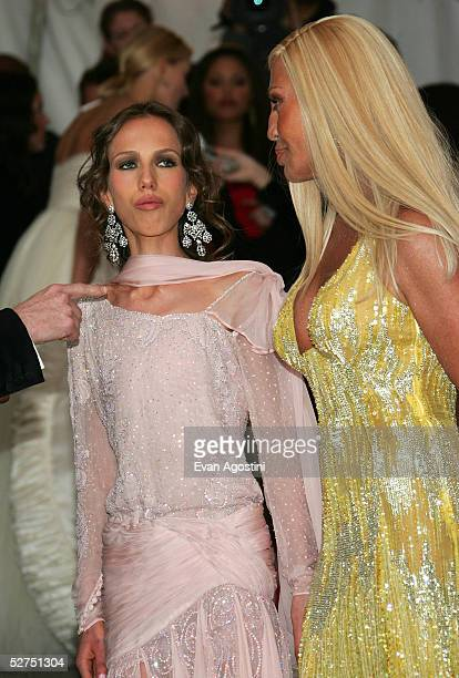 Fashion designer Donatella Versace and her daughter Allegra Beck attend the MET Costume Institute Gala Celebrating Chanel at the Metropolitan Museum...