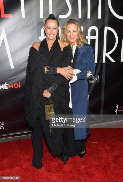 Fashion designer Donna Karan and actress Maria Bello attend the 4th Annual CineFashion Film Awards at El Capitan Theatre on October 8 2017 in Los...