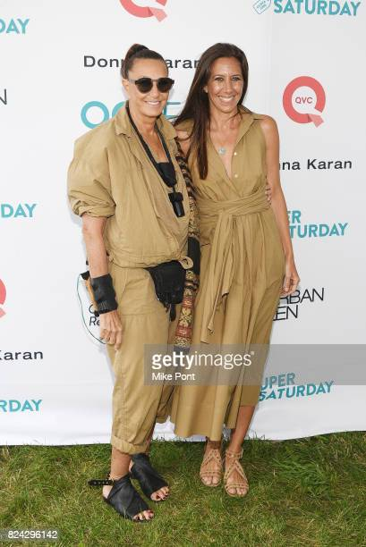 Fashion designer Donna Karan and Gabby Karan de Felice attend OCRFA's 20th Annual Super Saturday to Benefit Ovarian Cancer on July 29 2017 in...