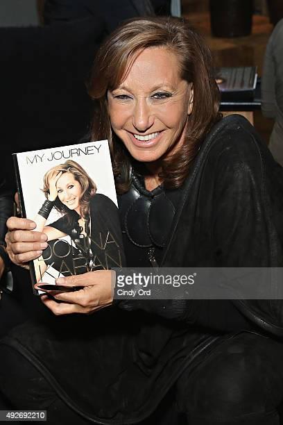 Fashion designer Donna Karan attends Donna Karan's 'My Journey' Book Release Party at Urban Zen on October 14 2015 in New York City