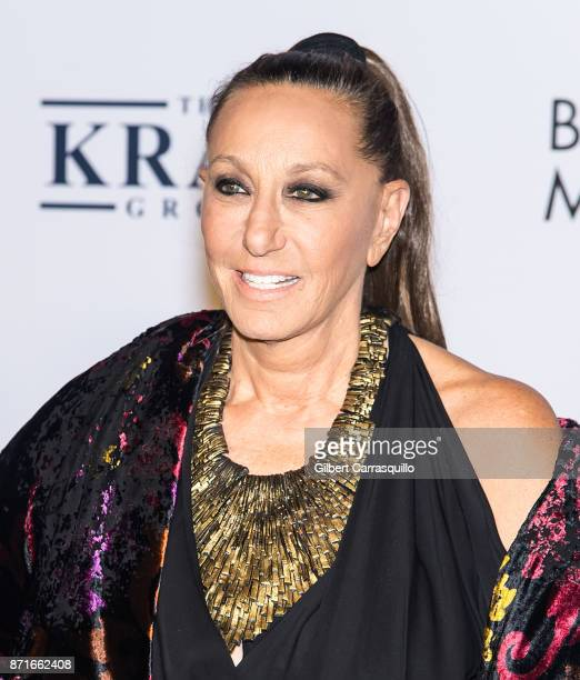 Fashion designer Donna Karan attends Elton John AIDS Foundation Commemorates Its 25th Year And Honors Founder Sir Elton John During New York Fall...