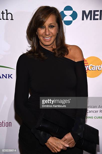 Fashion Designer Donna Karan attends Stand Up To Cancer's New York Standing Room Only presented by Entertainment Industry Foundation with donors...