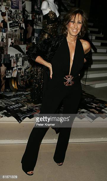 Fashion designer Donna Karan attends the celebration of 20 years of the Donna Karan brand on October 25 2004 in New York City