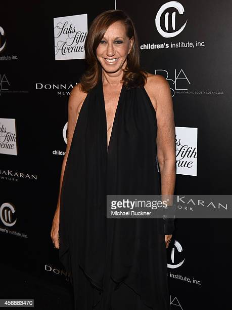 Fashion designer Donna Karan attends the fifth annual PSLA Autumn Party benefiting Children's Institute Inc sponsored by Saks Fifth Avenue with...