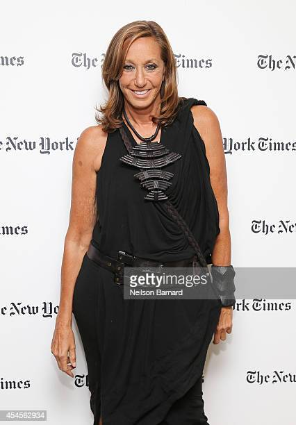 Fashion designer Donna Karan attends the New York Times Vanessa Friedman and Alexandra Jacobs welcome party on September 3 2014 in New York City