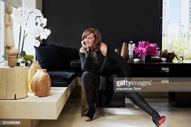 Fashion designer Donna Karan is photographed for Wall Street Journal on October 5 2015 in New York City PUBLISHED IMAGE
