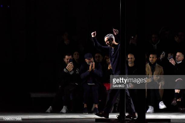 Fashion designer Dries Van Noten walks the runway during the Dries Van Noten Menswear Fall/Winter 20192020 fashion show as part of Paris Fashion Week...