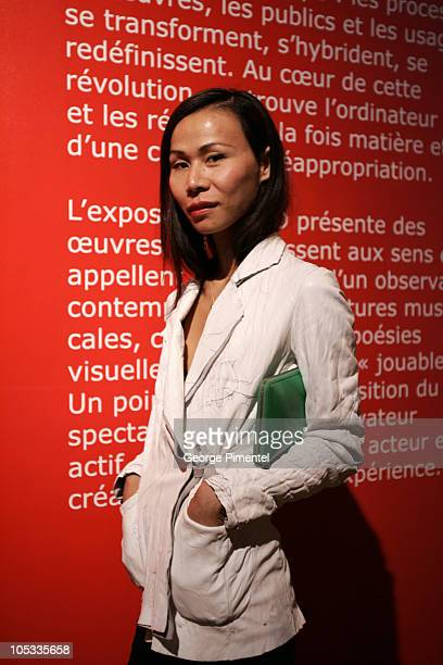 YSO' fashion designer during World Film Festival Unifrance Reception at SAT in Montreal Quebec Canada