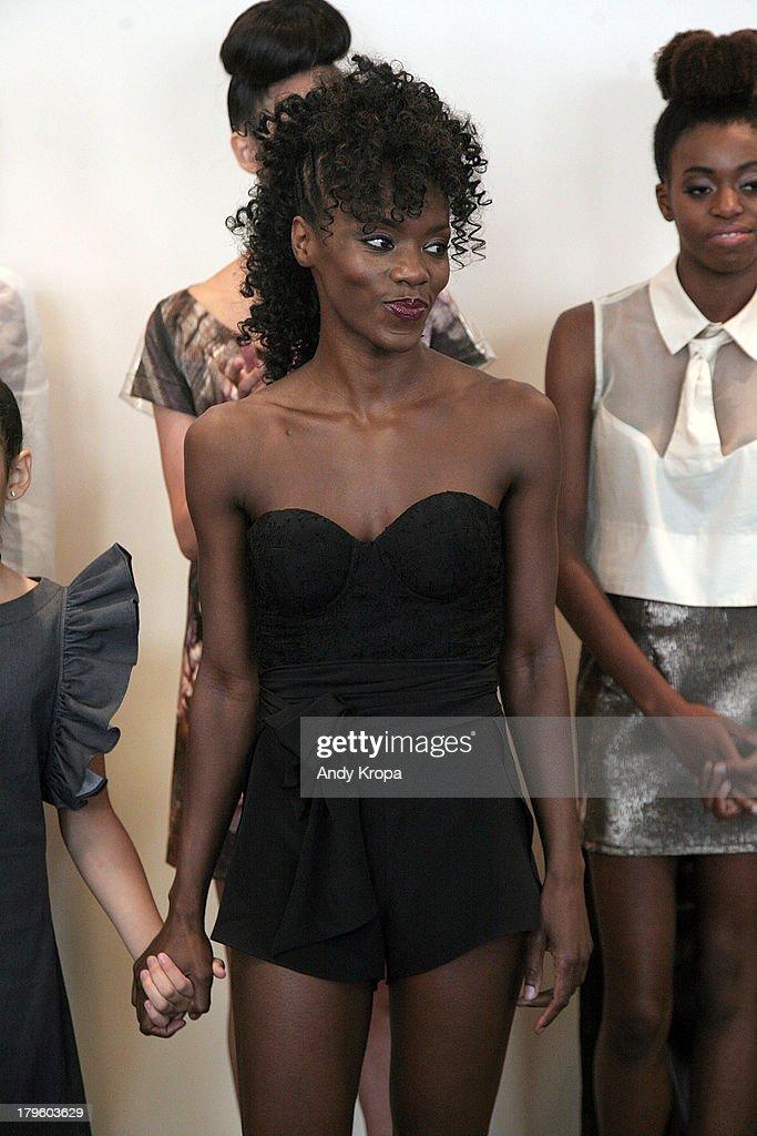 Fashion designer Ebony White attends the Ebony White presentation during Mercedes-Benz Fashion Week on September 5, 2013 in New York City.