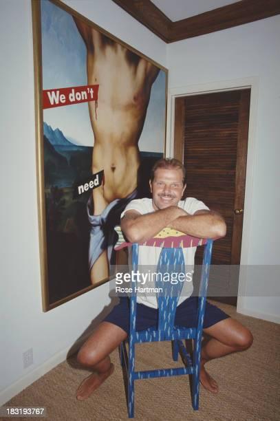 Fashion designer Egon von Furstenberg in his Miami Beach apartment USA circa 1995
