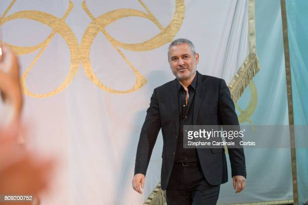 Fashion designer Elie Saab during the Elie Saab Haute Couture Fall/Winter 20172018 show as part of Haute Couture Paris Fashion Week on July 5 2017 in...